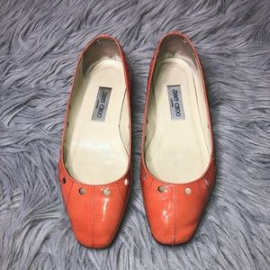 Authentic Jimmy Choo Patent Leather Flat
